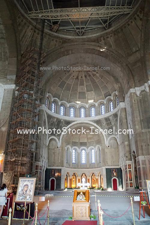 Interior of the Church of Saint Sava, Belgrade, Serbia.