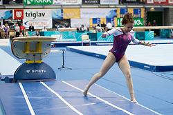 Tjasa Kysselef of Slovenia at Vault during Finals of Artistic Gymnastics FIG World Challenge Koper 2018, on June 2, 2018 in Arena Bonifika, Koper, Slovenia. Photo by Urban Urbanc / Sportida