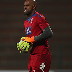 Reyaad Pieterse G/K of SuperSport United during the 2016 Premier Soccer League match between Supersport United and The Free Stat Stars held at the King Zwelithini Stadium in Durban, South Africa on the 24th September 2016<br /> <br /> Photo by:   Steve Haag / Real Time Images