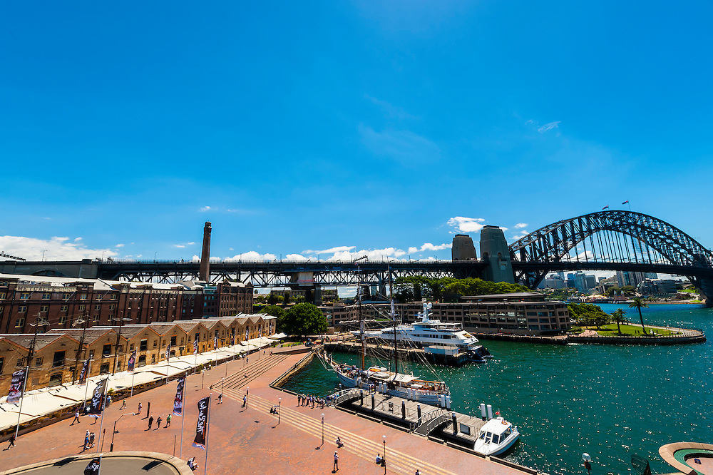 The Rocks and Sydney Harbour Bridge, Sydney, New South Wales, Australia