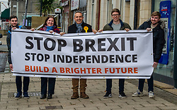"""Pictured: Alex Cole-Hamilton<br /><br />Scottish Liberal Democrat Campaign Chair Alex Cole-Hamilton was campaigning with activists in Edinburgh today and accused the Labour party of being """"double ditherers"""" on the two main issues of the day -  Brexit and independence.<br />Ger Harley   EEm 19 November 2019"""