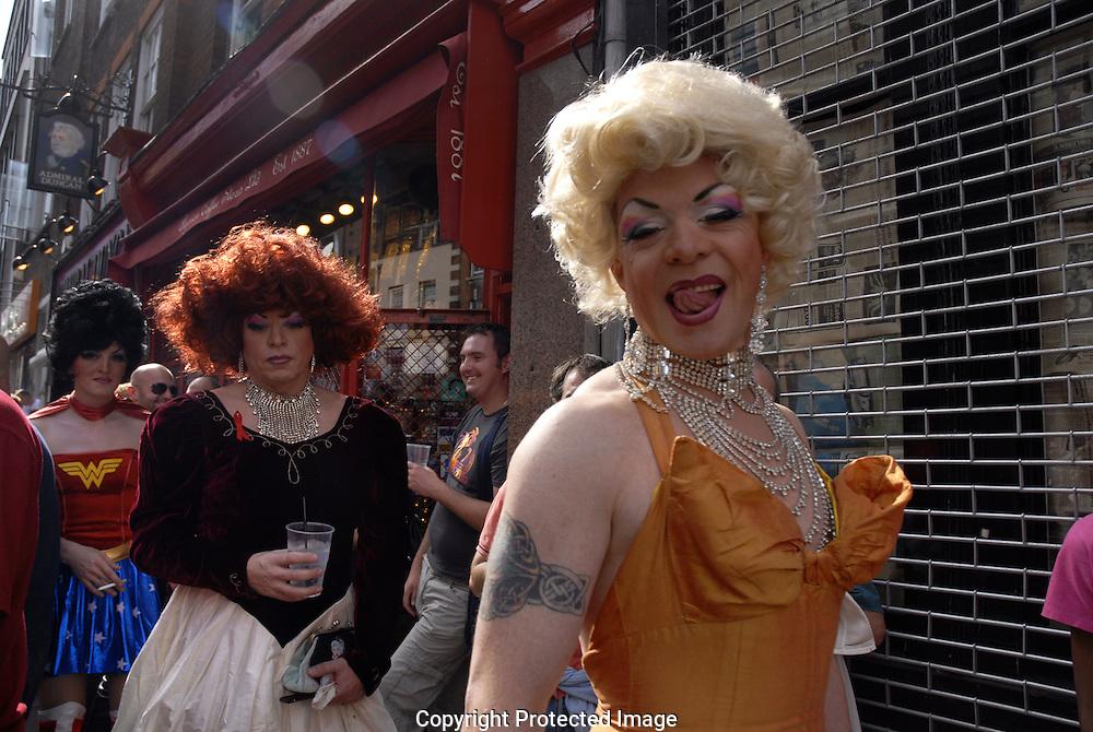 Cross-dressed women in Soho