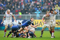 Bath Scrum-Half (#9) Michael Claassens passes during the first half of the match - Photo mandatory by-line: Rogan Thomson/JMP - Tel: Mobile: 07966 386802 22/12/2012 - SPORT - RUGBY - The Recreation Ground - Bath. Bath Rugby v Saracens - Aviva Premiership.
