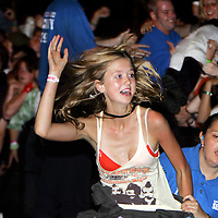 Rock fans of all persuasions gather in Reading, England at the Reading Rock Festival to watch and listen to their favorite groups