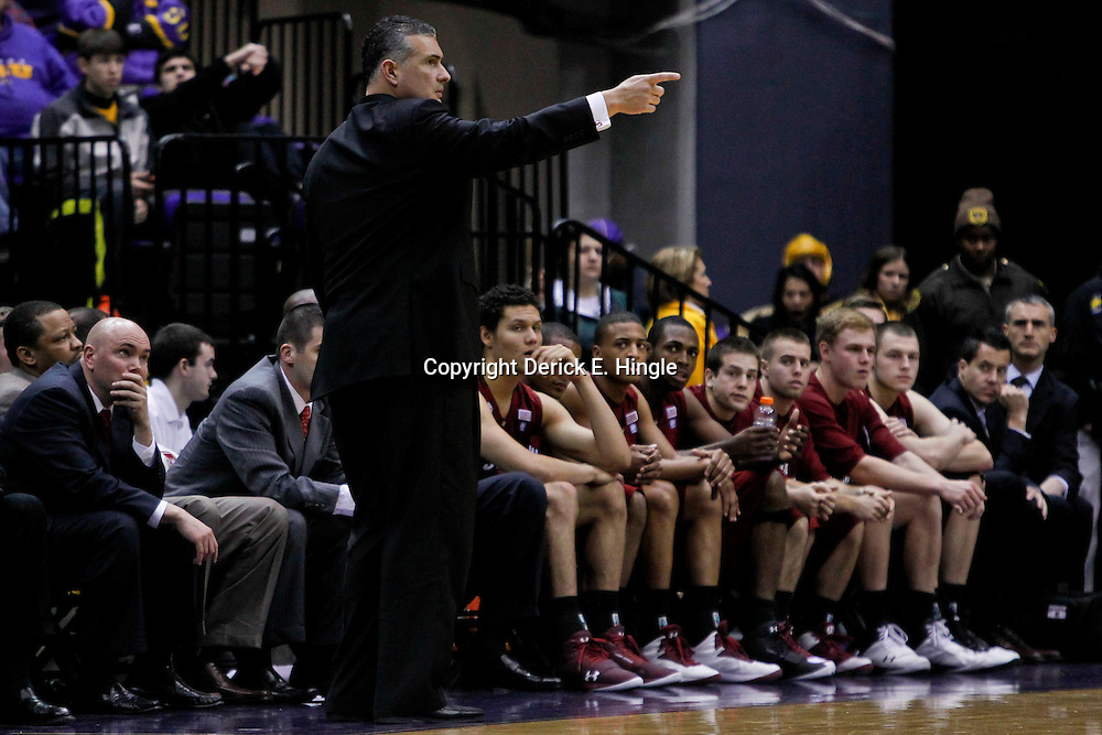 Jan 16, 2013; Baton Rouge, LA, USA; South Carolina Gamecocks head coach Frank Martin against the LSU Tigers during the first half of a game at the Pete Maravich Assembly Center. Mandatory Credit: Derick E. Hingle-USA TODAY Sports