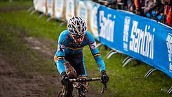 Kevin PAUWELS (4,BEL), 6th lap at Men UCI CX World Championships - Hoogerheide, The Netherlands - 2nd February 2014 - Photo by Pim Nijland / Peloton Photos