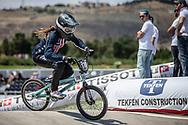 Women Junior #170 (DAWSON Dena) USA at the 2018 UCI BMX World Championships in Baku, Azerbaijan.