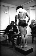 Roma Palazzetto dello Sport.Boxe dilettanti, il pugile viene pesato prima dell'incontro