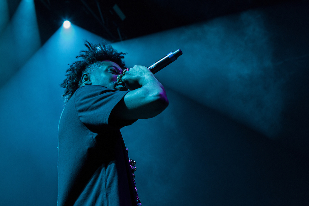 Hip Hop artist Danny Brown backstage and performing at New York City area Madison Square Garden