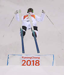 Sweden's Felix Elofsson in the Men's Moguls Final Qualification during day three of the PyeongChang 2018 Winter Olympic Games in South Korea.