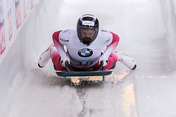 03.02.2017, Olympia Eisbahn, Igls, AUT, IBSF Weltcup, Igls, Skeleton, Herren, 2. Lauf, im Bild Martins Dukurs (LAT) // Martins Dukurs (LAT) reacts after his 2nd run of the mens's Skeleton competition of BMW IBSF World Cup at the Olympia Eisbahn in Igls, Austria on 2017/02/03. EXPA Pictures © 2017, PhotoCredit: EXPA/ Stefan Adelsberger