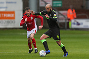 Forest Green Rovers Farrend Rawson(6) on the ball during the EFL Sky Bet League 2 match between Crewe Alexandra and Forest Green Rovers at Alexandra Stadium, Crewe, England on 27 April 2019.