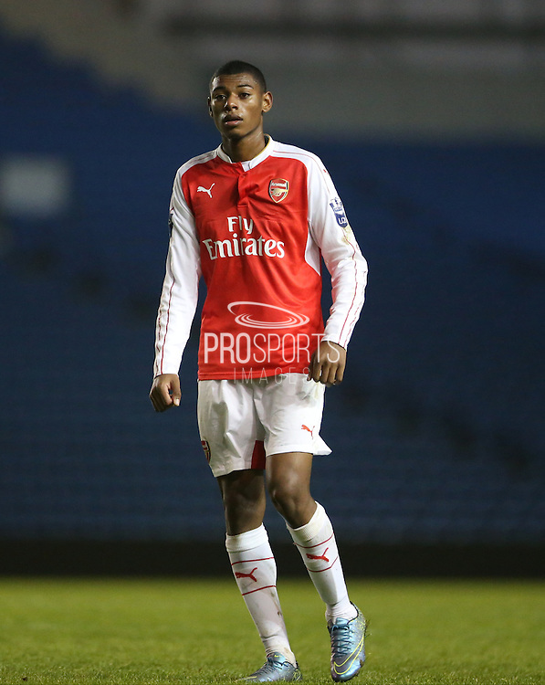 Arsenal U21 midfielder Jeff Reine-Adelaide during the Barclays U21 Premier League match between Brighton U21 and Arsenal U21 at the American Express Community Stadium, Brighton and Hove, England on 1 December 2015.