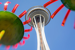 United States, Washington, Seattle, Space Needle at Seattle Center