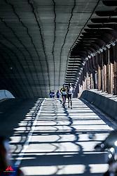 Nancy Kiprop, KEN, Des Linden, USA<br /> Queensboro Bridge<br /> TCS New York City Marathon 2019