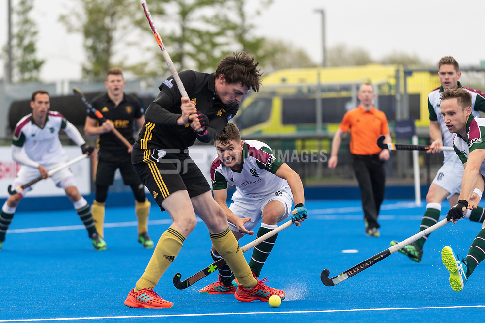 Beeston's Richard Lawrence. Surbiton v Beeston - Men's Hockey League Finals, Lee Valley Hockey & Tennis Centre, London, UK on 28 April 2018. Photo: Simon Parker