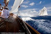 Mariella and Eleonora at the Antigua Classic Yacht Regatta