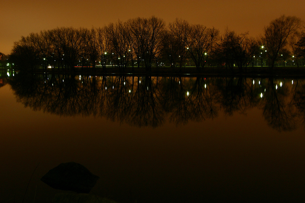 Charles river, Boston, on a very calm evening.