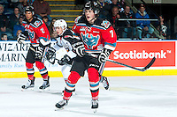 KELOWNA, CANADA - NOVEMBER 11: Lucas Johansen #7 of Kelowna Rockets calls for the pass against the Vancouver Giants on November 11, 2015 at Prospera Place in Kelowna, British Columbia, Canada.  (Photo by Marissa Baecker/ShoottheBreeze)  *** Local Caption *** Lucas Johansen;