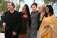 Semih Kaplanoglu, Maji-da Abdi, Nicoletta Braschi, Jane Campion, Nandita Das.at the Jury Cinefondation photocall Cannes Film Festival on Wednesday 22nd May 2013