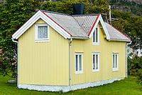 Norway, Harbak. Old buildings.