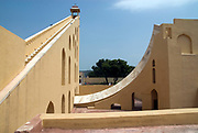 India, Rajasthan, Jaipur The Jantar Mantar Astronomical observatory