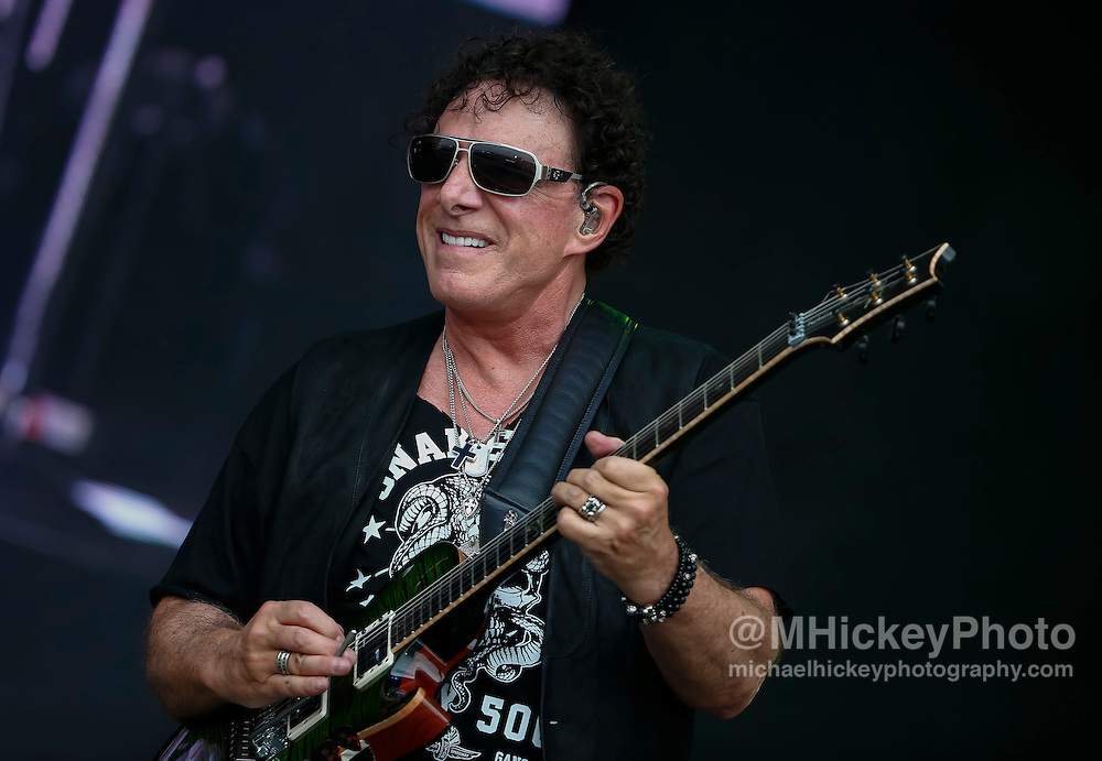 INDIANAPOLIS, IN - MAY 27: Neal Schon And Vortex Perform at the Indianapolis Motor Speedway on May 27, 2016 in Indianapolis, Indiana. (Photo by Michael Hickey/Getty Images) *** Local Caption *** Neal Schon
