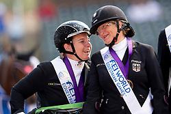dr. Angelika Trabert, Elke Philipp, GER,<br /> Tryon - FEI World Equestrian Games™ 2018<br /> Siegerehrung Medaillenvergabe<br /> Para-Dressur Teamentscheidung<br /> 21. September 2018<br /> © www.sportfotos-lafrentz.de/Sharon Vandeput
