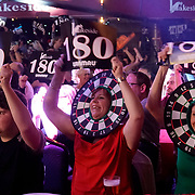 07.01.2018 Spectators watch play during a first round match on Day Two of the BDO Lakeside  World Professional Darts Championships at The Lakeside Country Club England UK