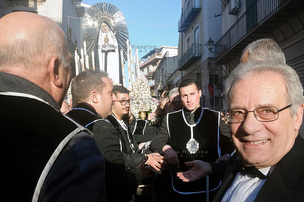 Celebrazione dei riti pasquali nel  centro storico di Palermo.<br /> <br /> Celebration of Holy Week in  historic center in Palermo