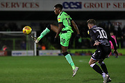 Forest Green Rovers Reece Brown(10) controls the ball during the EFL Sky Bet League 2 match between Forest Green Rovers and Colchester United at the New Lawn, Forest Green, United Kingdom on 27 November 2018.