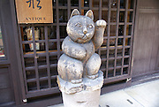 old town , Takayama, Japan, Maneki-neko Beckoning Cat