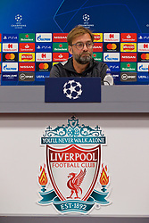 LIVERPOOL, ENGLAND - Tuesday, November 26, 2019: Liverpool's manager Jürgen Klopp during a press conference at Anfield ahead of the UEFA Champions League Group E match between Liverpool FC and SSC Napoli. (Pic by David Rawcliffe/Propaganda)