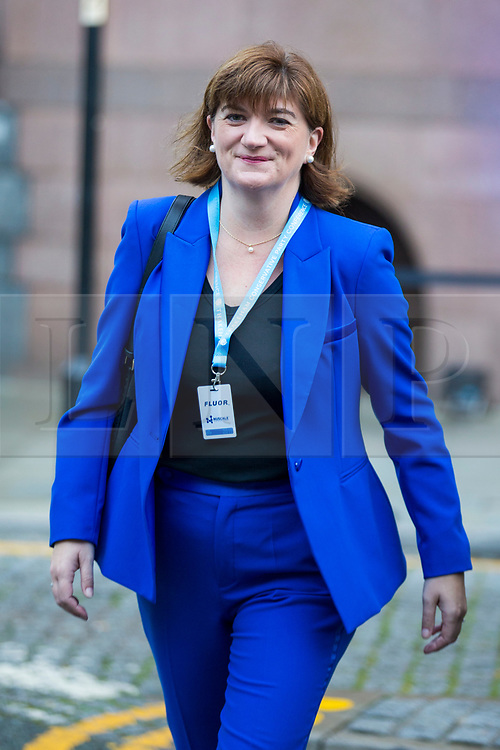 © Licensed to London News Pictures. 30/09/2019. Manchester, UK. MP Nicky Morgan on the second day of the Conservative Party Conference at Manchester Central in Manchester. Photo credit: Andrew McCaren/LNP
