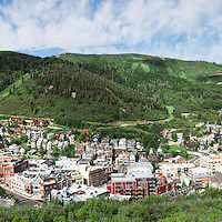 A 9 image sequence creates an ultra large panoramic of Park City during an early snow storm in the Spring.