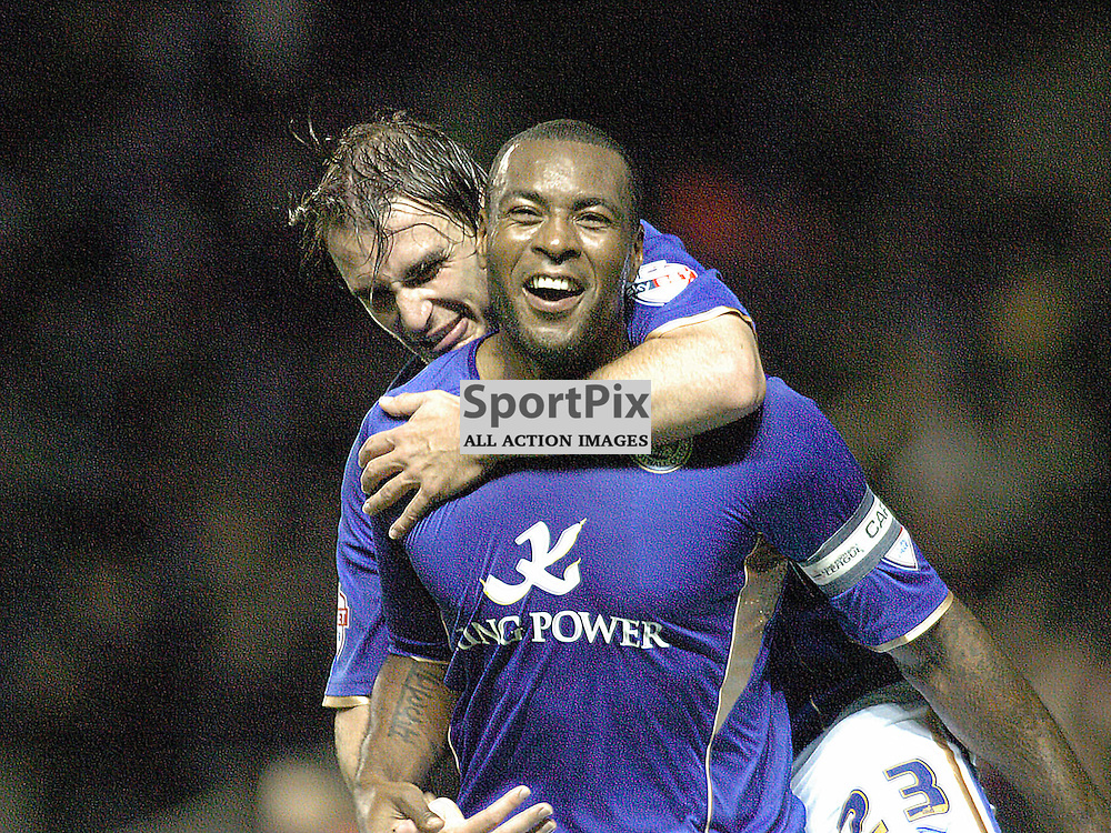 Leicesters Wes Morgan Celebrates after Scoring Leicesters Equaliser against Fulham, Leicester City v Fulham, Capital One Cup, 29th October 2013