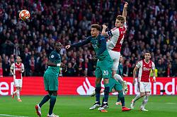 08-05-2019 NED: Semi Final Champions League AFC Ajax - Tottenham Hotspur, Amsterdam<br /> After a dramatic ending, Ajax has not been able to reach the final of the Champions League. In the final second Tottenham Hotspur scored 3-2 / Matthijs de Ligt #4 of Ajax scores the 1-0, Dele Alli #20 of Tottenham Hotspur