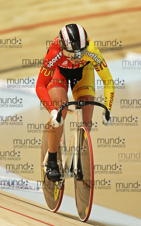 (Melbourne, Australia---8 April 2012) Gabriele Jankute of Lithuania racing in the Women's 500m Time Trial at the 2012 UCI Track Cycling World Championships.Copyright 2012 Sean Burges / Mundo Sport Images.