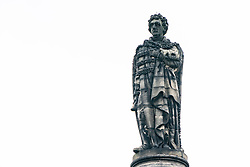 The statue of Henry Dundas, the first Viscount Melville in St Andrew Square Edinburgh, Scotland, UK