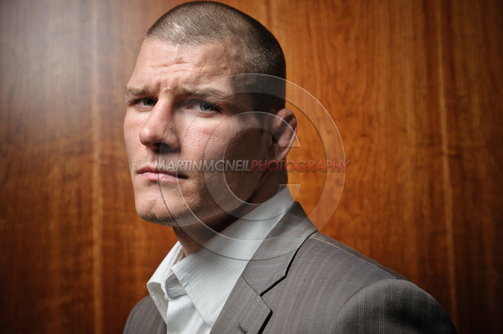 """A portrait of mixed martial arts athlete Michael """"The Count"""" Bisping"""