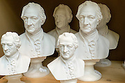 Goethebüsten, Weimar, Thüringen, Deutschland   Goethe busts, Weimar, Thuringia, Germany