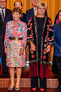 AMSTERDAM - Princess Margriet and Princess Laurentien during the presentation of the ECF Princess Margriet Award for Culture 2018. Prinses Margriet en Prinses Laurentien zijn aanwezig bij de tiende uitreiking van de ECF Princess Margriet Award for Culture.  ROBIN UTRECHT