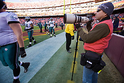 Andrew Shurtleff photographs the Eagles.   The Washington Redskins defeated the Philadelphia Eagles 10-3 in an NFL football game held at Fedex Field in Landover, Maryland on Sunday, December 21, 2008.