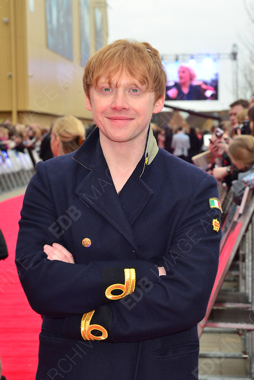 31.MARCH.2012. HERTFORSHIRE<br /> <br /> RUPERT GRINT ATTENDS THE GRAND OPENING OF THE WARNER BROS. STUDIO TOUR IN LONDON: THE MAKING OF HARRY POTTER IN WATFORD, HERTFORDSHIRE.<br /> <br /> BYLINE: EDBIMAGEARCHIVE.COM<br /> <br /> *THIS IMAGE IS STRICTLY FOR UK NEWSPAPERS AND MAGAZINES ONLY*<br /> *FOR WORLD WIDE SALES AND WEB USE PLEASE CONTACT EDBIMAGEARCHIVE - 0208 954 5968*