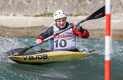 Mlakar Jakob (KK Soske elektrarne / Slovenia) during ICF Canoe Slalom Ranking Race Tacen 2018, on April 8, 2018 in Ljubljana, Slovenia. Photo by Urban Meglic / Sportida