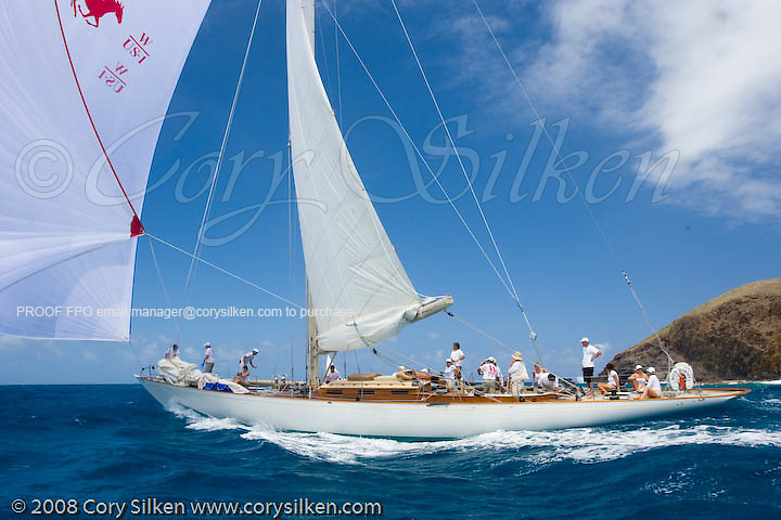 W Class Wild Horses racing at the St. Barth Bucket regatta.