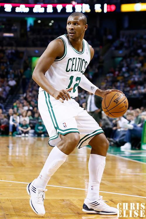 17 November 2012: Boston Celtics shooting guard Leandro Barbosa (12) looks to pass the ball during the Boston Celtics 107-89 victory over the Toronto Raptors at the TD Garden, Boston, Massachusetts, USA.