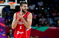 Stefan Bircevic of Serbia during basketball match between National Teams of Italy and Serbia at Day 14 in Round of 16 of the FIBA EuroBasket 2017 at Sinan Erdem Dome in Istanbul, Turkey on September 13, 2017. Photo by Vid Ponikvar / Sportida