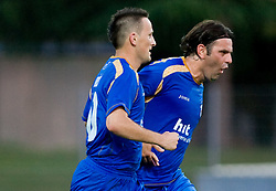 Admir Krsic and Enes Demirovic of Gorica at 1st football match of 2nd preliminary Round of UEFA Europe League between ND Gorica and FC Lahti, on July 16 2009, in Nova Gorica, Slovenia. (Photo by Vid Ponikvar / Sportida)