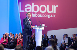 Ed Balls Shadow Chancellor of the Exchequer during his speech to the Labour Party Conference in Manchester, Monday October 1 2012, Photo by Elliott Franks / i-Images